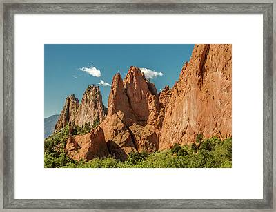 Garden Of The Gods Framed Print by Bill Gallagher