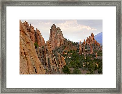 Garden Of The Gods - Colorado  Framed Print by Mike McGlothlen