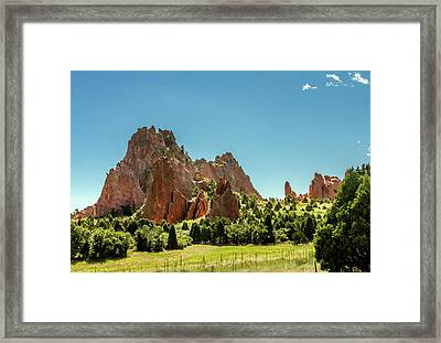 Garden Of The Gods II Framed Print by Bill Gallagher