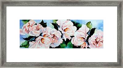 Garden Roses Framed Print by Hanne Lore Koehler