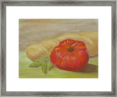 Garden Tomato Framed Print by Cheryl Albert
