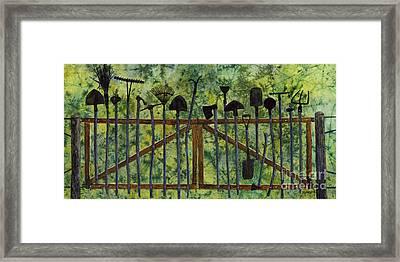 Garden Tools Framed Print by Hailey E Herrera