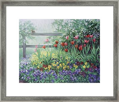 Garden Tulips Framed Print by Laurie Hein