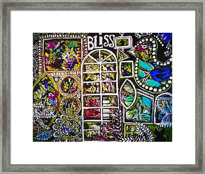 Garden Window Bliss Framed Print by Teri Newberry