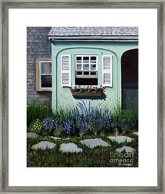 Garden Window Framed Print by Paul Walsh