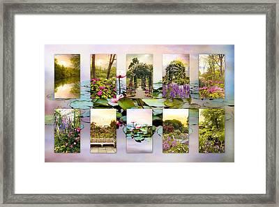 Garden Windows Collage Framed Print by Jessica Jenney