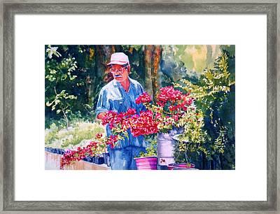 Gardener Framed Print by Estela Robles
