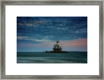 Gardiners Bay At Dusk Framed Print by Rick Berk