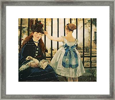 Gare St Lazare Framed Print by Edouard Manet