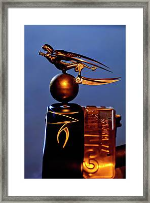 Gargoyle Hood Ornament 3 Framed Print by Jill Reger