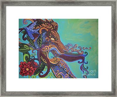 Gargoyle Lion Framed Print by Genevieve Esson