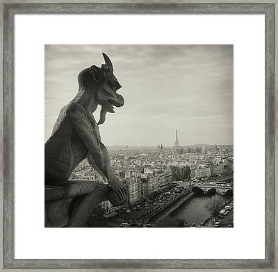 Gargoyle Of Notre Dame Framed Print by Zeb Andrews