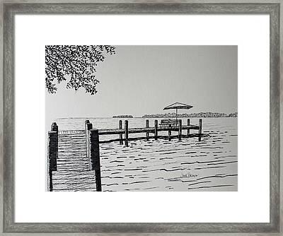 Garlic Island Lake Winnebago Framed Print by Jack G  Brauer