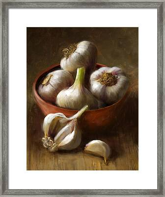 Garlic Framed Print by Robert Papp