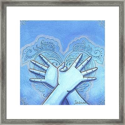Garuda Mudra Framed Print by Sabina Espinet