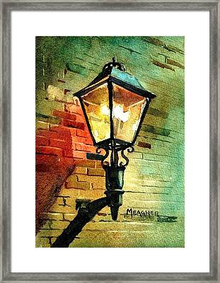Gas Lamp Framed Print by Spencer Meagher