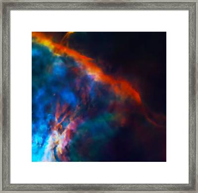 Gas Plume Orion Nebula 2 Framed Print by The  Vault - Jennifer Rondinelli Reilly