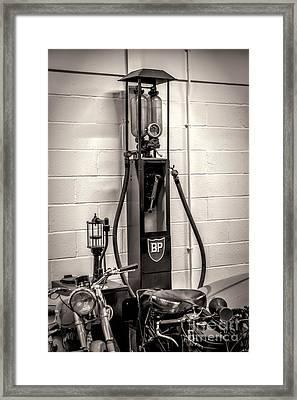 Gas Pump Bp Framed Print by Adrian Evans
