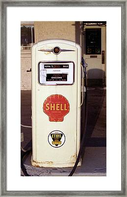 Gas Pump Framed Print by Michael Peychich