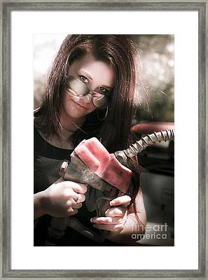Gas Pump Framed Print by Jorgo Photography - Wall Art Gallery