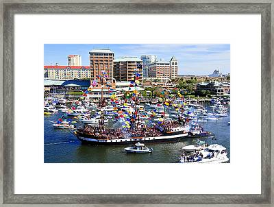 Gasparilla And Harbor Island Florida Framed Print by David Lee Thompson