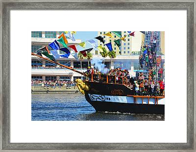 Gasparilla Landing Framed Print by David Lee Thompson