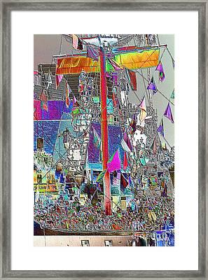 Gasparilla Pirates Invade Tampa Framed Print by Carol Groenen