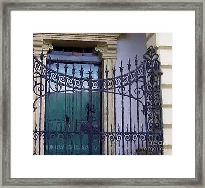 Gated Framed Print by Debbi Granruth