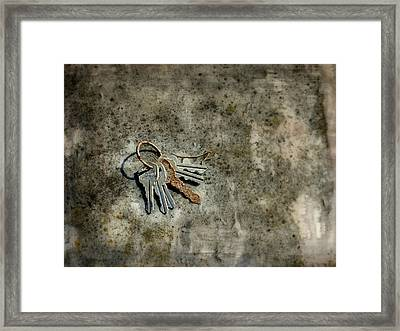 Gatehouse Keys Framed Print by Brenda Conrad