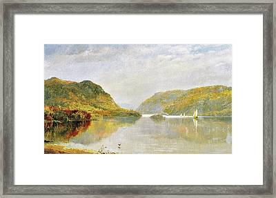 Gates Of The Hudson Framed Print by Jasper Cropsey