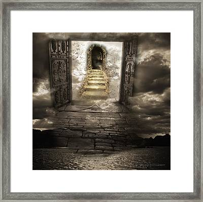 Gateway To Heaven Framed Print by Andy Frasheski