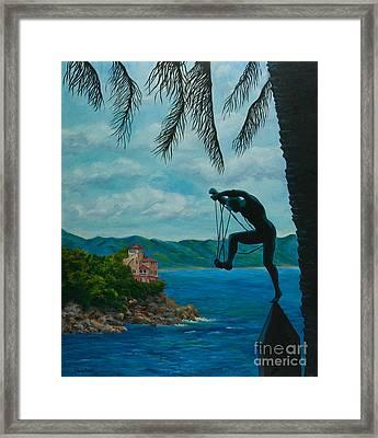 Gateway To Portofino Framed Print by Charlotte Blanchard