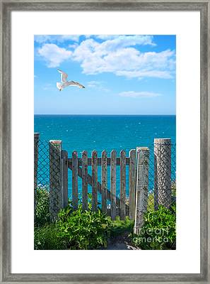 Gateway To The Sea Framed Print by Amanda Elwell