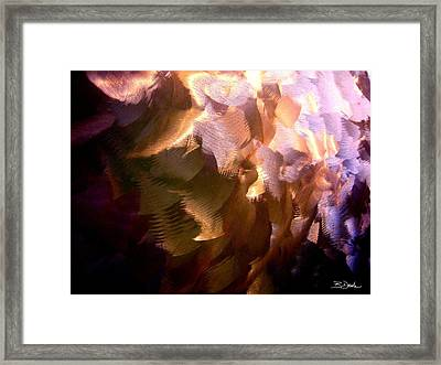 Gathering Storm Clouds Framed Print by Barbara Drake