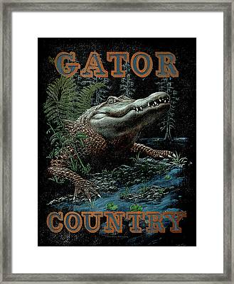 Gator Country Framed Print by JQ Licensing