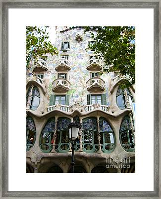 Gaudi Architecture Framed Print by Laura Kayon