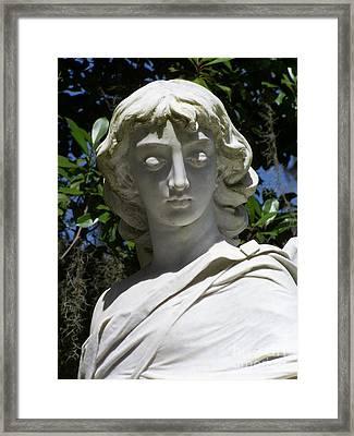 Gaze Of An Angel Framed Print by Randy Edwards