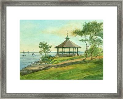 Gazebo Late Afternoon Framed Print by Phyllis Tarlow