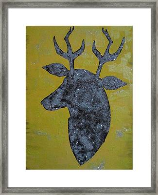 Gazelle Sign Framed Print by Ameni El Jerbi