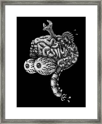 Gearhead Framed Print by Bomonster