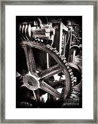 Gearology  Framed Print by Olivier Le Queinec