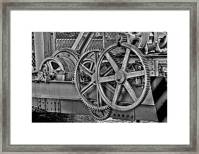 Gears Framed Print by William Wetmore
