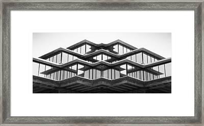 Geisel Library Framed Print by William Dunigan