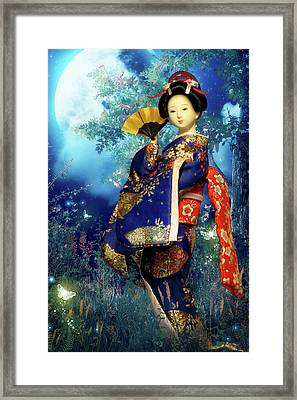 Geisha - Combining Innocence And Sophistication Framed Print by Christine Till