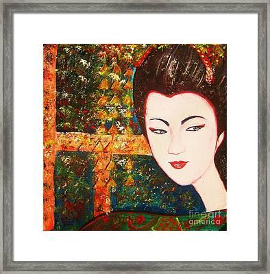 Geisha Framed Print by Anastasis  Anastasi