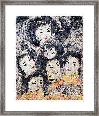 Geisha Framed Print by Shelley Jones