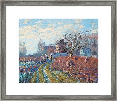 Gelee Blanche Framed Print by Alfred Sisley