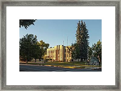 Gem County Courthouse Framed Print by Robert Bales