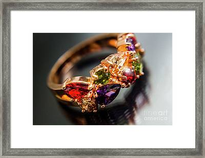 Gem Fashion Rings Framed Print by Jorgo Photography - Wall Art Gallery