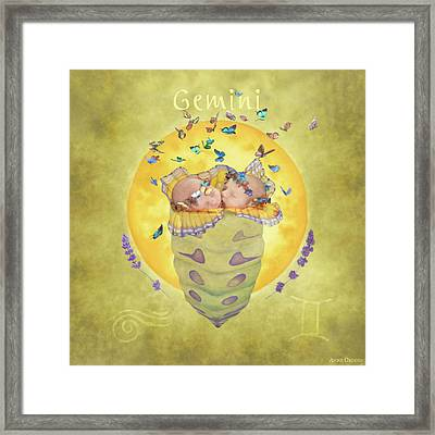Gemini Framed Print by Anne Geddes